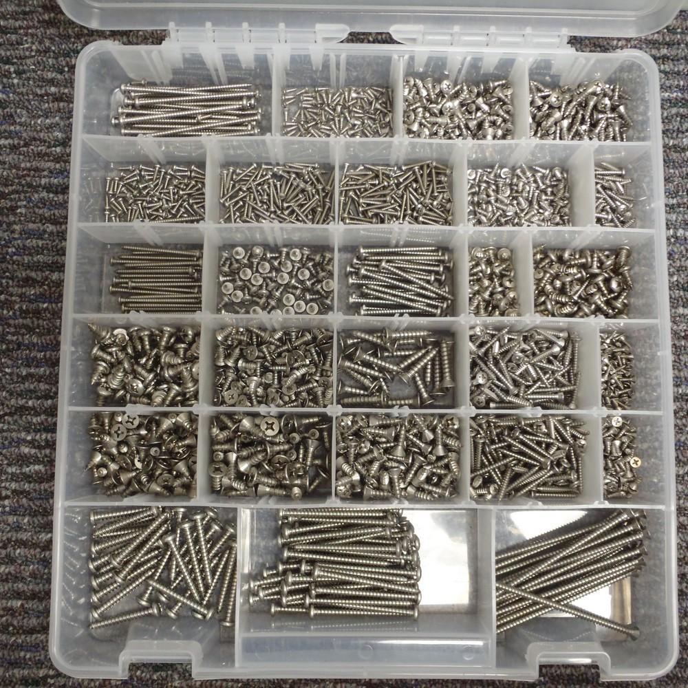 18-8 SS Sheet Metal Screw Kit - SHEET METAL SCREW ASST SS